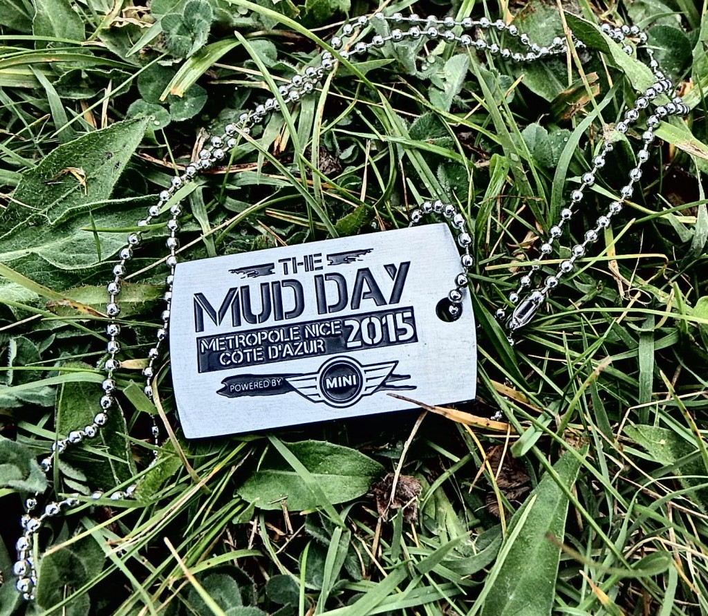 La médaille du Mud Day de Nice