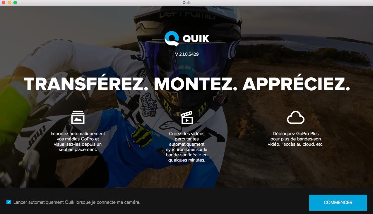 quik sous mac   le logiciel de montage de gopro  u2026 tr u00e8s